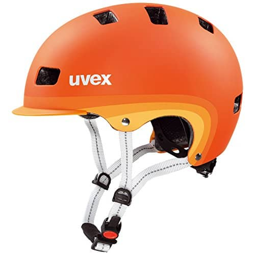 Uvex Erwachsene Fahrradhelm City 5, Orange Metallic Mat, 55-58 cm, 4101850617