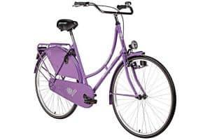 28'' Bermuda Hollandrad Damen Holland Fahrrad Citybike Valencia violett Beleuchtung Gepäckträger Rücktrittbremse