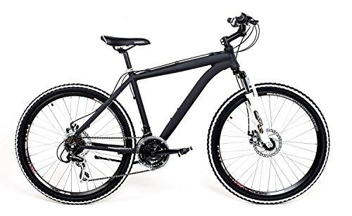 26 Zoll Alu MTB Cross Fahrrad Bike SHIMANO 24 Gang DISC SCHEIBENBREMSEN schwarz