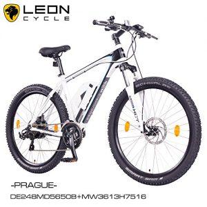 "NCM Prague 2016, 27,5"" Zoll Elektrofahrrad Mountainbike E-MTB E-Bike,Pedelec ALU 36V 250W Li-NCM Akku mit 13Ah,weiß,schwarz"