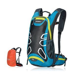 Stylischer Wasserdichter Fahrradrucksack mit 15 Liter Volumen aus hochwertigen Nylon gefertigt. Der Rucksack ist super geeignet für Radsportler und Jogger. Regenschutz vorhanden. Den Rucksack gibt es in vier verschiedene Farben.